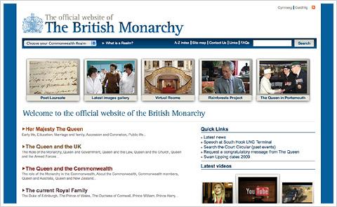 英国王室公式ウェブサイト